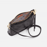 Embossed Black Cadence Crossbody  Hobo