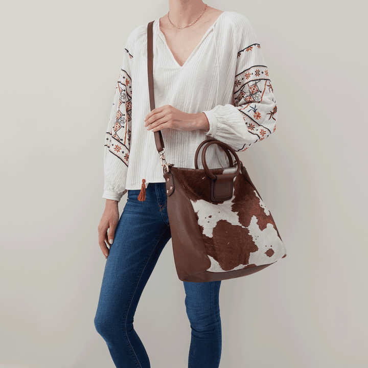 Cow print Sheila Large Satchel  Hobo