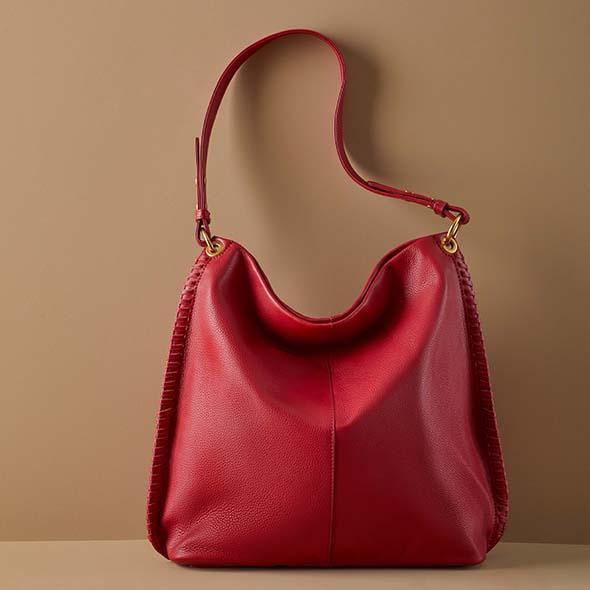 Scarlet Moondance Hobo  Hobo  Velvet Pebbled Leather