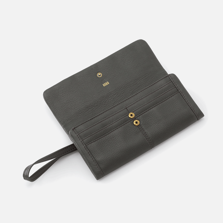 Sage brush Wonder Wallet  Hobo  Velvet Pebbled Leather