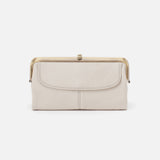Powder White Lauren Clutch Wallet  Hobo  Velvet Pebbled Leather