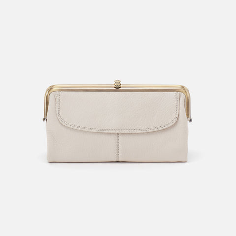 Powder White  Hobo Clutch Wallet