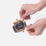 Black Run GO Frame Pouch  Hobo  Velvet Pebbled Leather