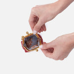 Scarlet Run GO Frame Pouch Hobo  Velvet Pebbled Leather