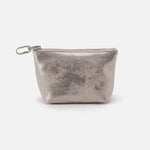 Distressed Platinum Brava Go Clip Pouch Hobo