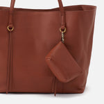 Toffee Brava GO Clip Pouch Hobo  Velvet Pebbled Leather