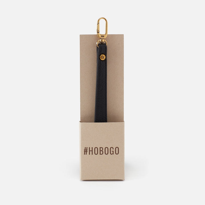 Black Grip GO Wristlet Strap  Hobo  Velvet Pebbled Leather