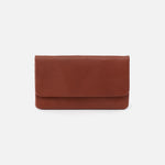 Toffee Paca Continental Wallet Hobo  Velvet Pebbled Leather