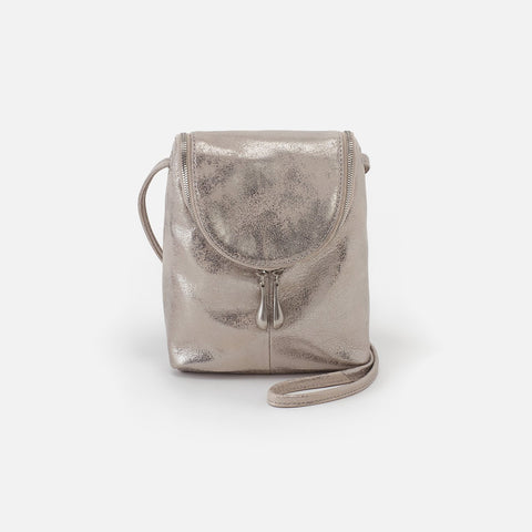 Distressed Platinum  Hobo Crossbody