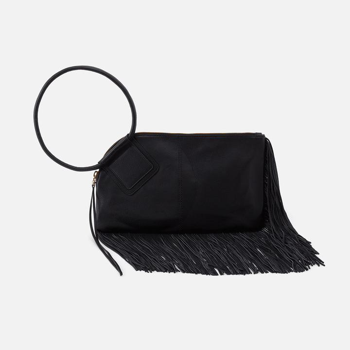 Black Stevie Shoulder Bag  Hobo  Velvet Pebbled Leather