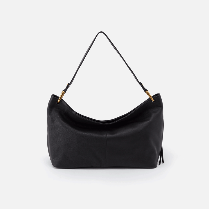 Black Ventura Shoulder Bag  Hobo  Velvet Pebbled Leather