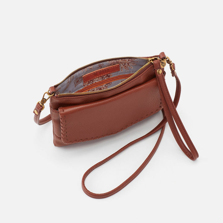 Toffee Stroll Crossbody  Hobo  Velvet Pebbled Leather