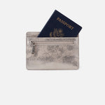 Distressed Platinum Euro Slide Card Case Hobo
