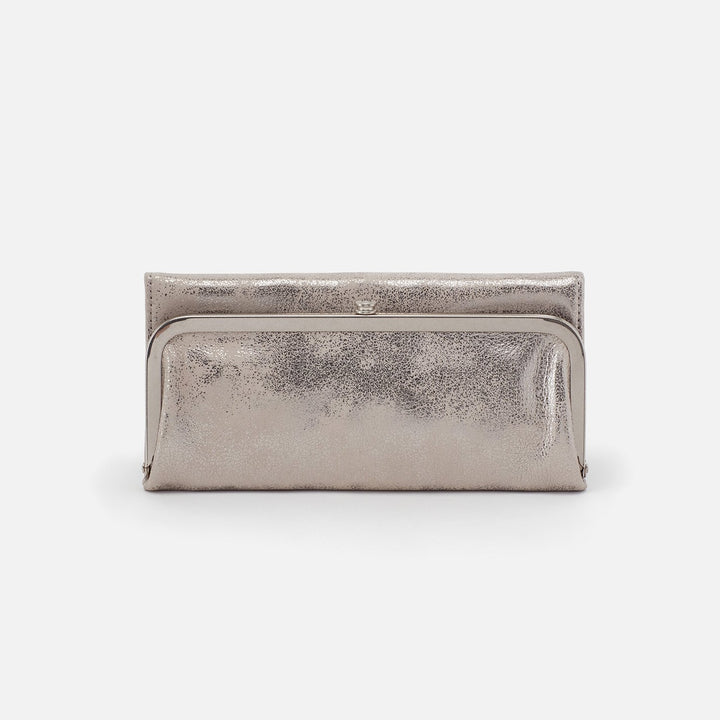 Distressed Platinum Rachel Continental Wallet  Hobo