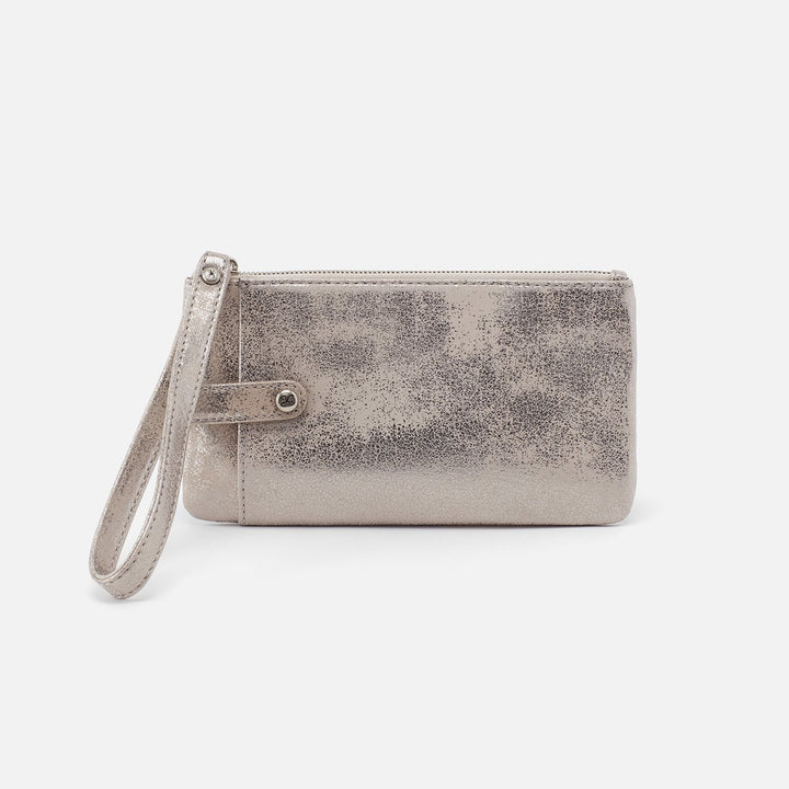 Distressed Platinum King Smartphone Wristlet  Hobo