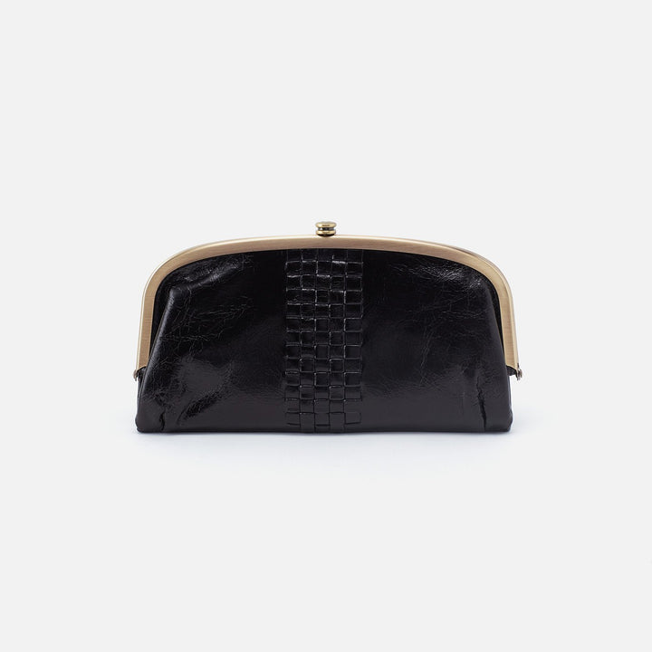 Black Weave Continental Wallet  Hobo