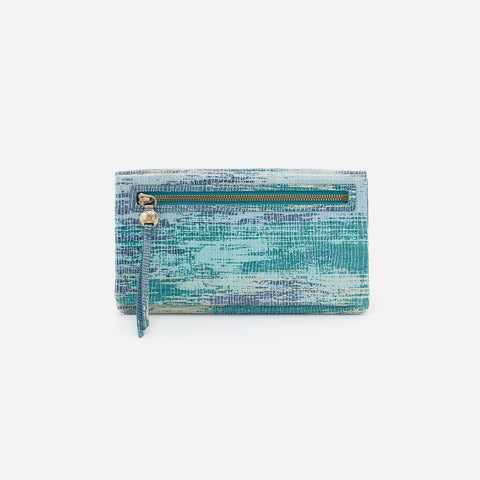 Cracked Glass Lumen Continental Wallet  Hobo