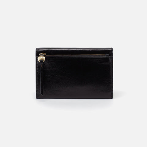 Black  Hobo Trifold Wallet