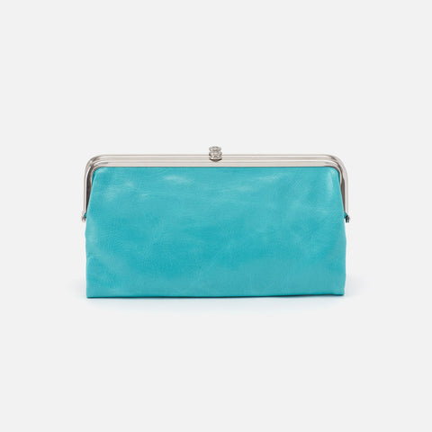 Aqua  Hobo Clutch Wallet