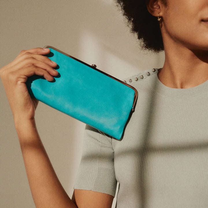 Aqua Lauren Clutch Wallet  Hobo