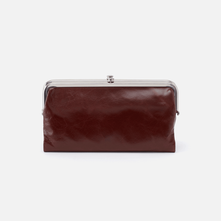 Chocolate Lauren Clutch Wallet  Hobo