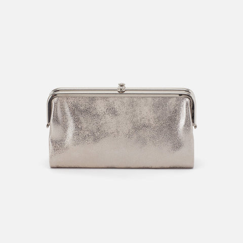 Distressed Platinum  Hobo Clutch Wallet