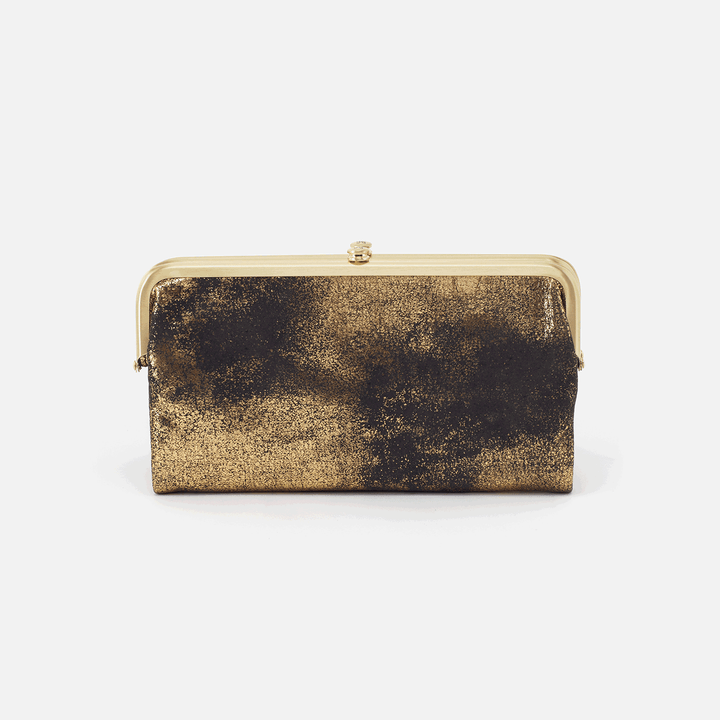 Heavy Metal Gold Lauren Clutch Wallet  Hobo