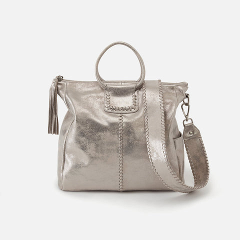 Distressed Platinum  Hobo Large Satchel