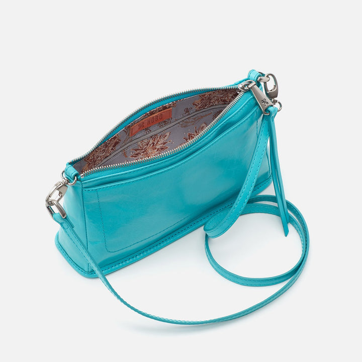Aqua Cadence Crossbody  Hobo