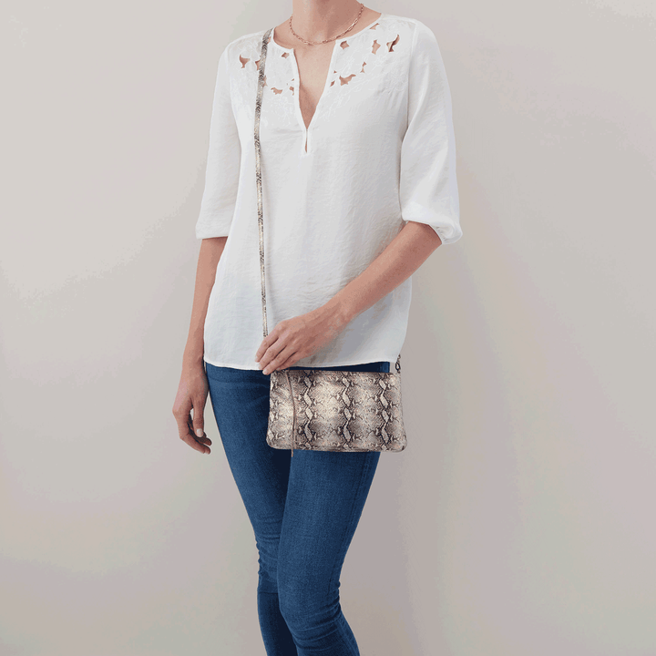 Glam Snake Darcy Crossbody  Hobo