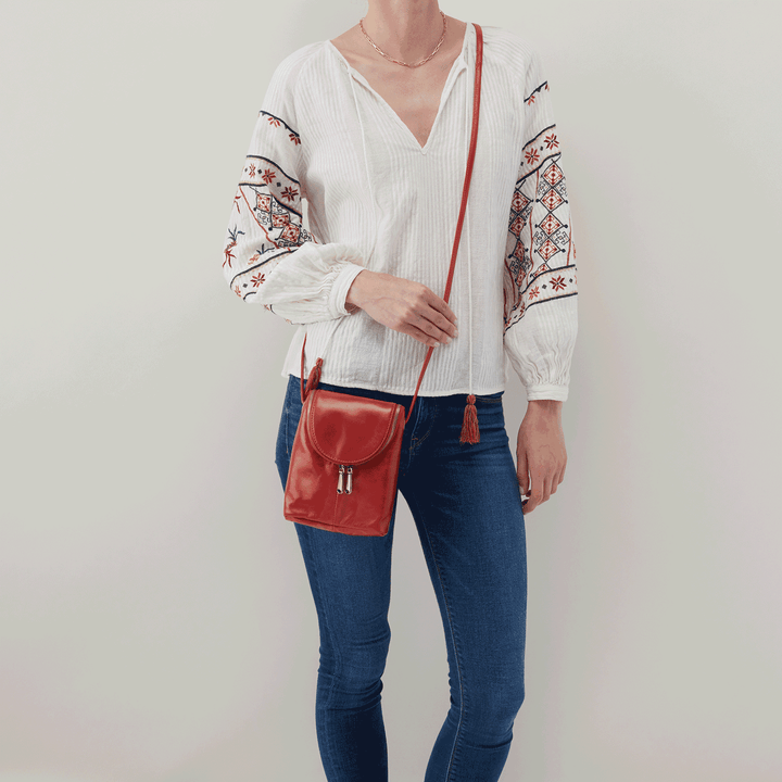 Brick Fern Crossbody  Hobo