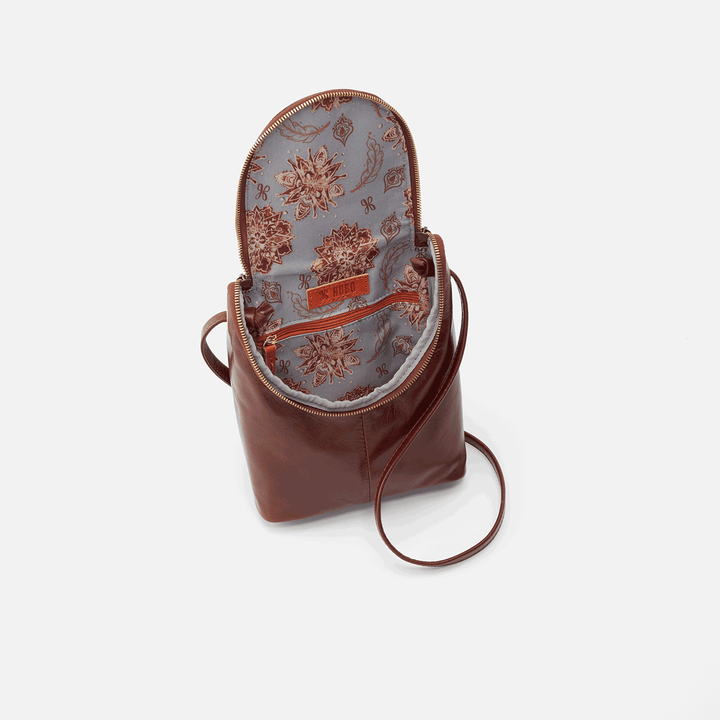 Chocolate Fern Crossbody  Hobo