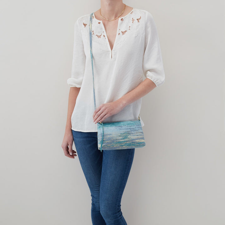 Cracked Glass Darcy Crossbody  Hobo