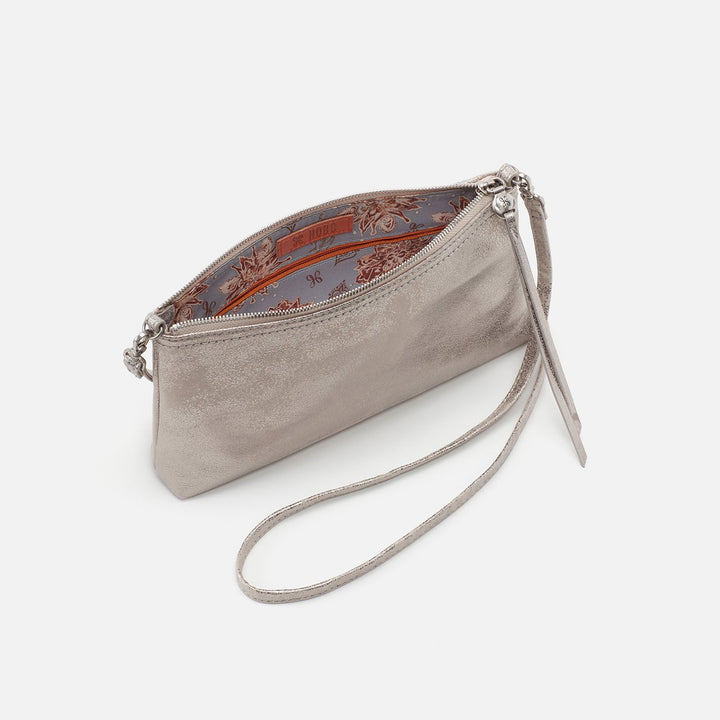 Distressed Platinum Darcy Crossbody  Hobo