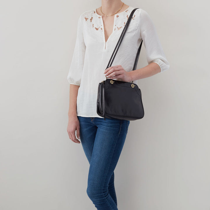 Black Refine Shoulder Bag  Hobo