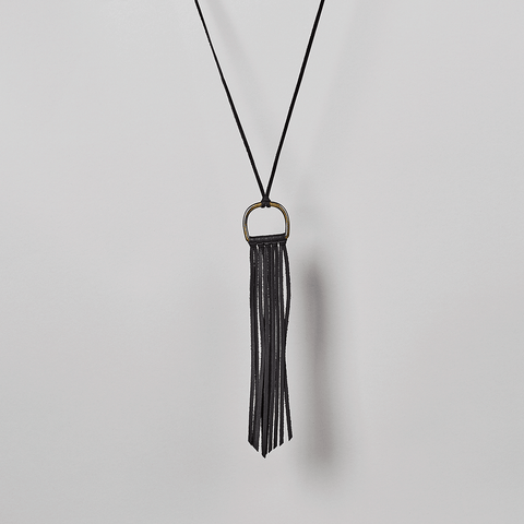 Fringe Half Moon Necklace