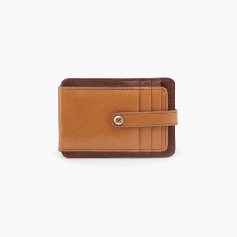 Access Cognac Brown Leather Credit Card Wallet