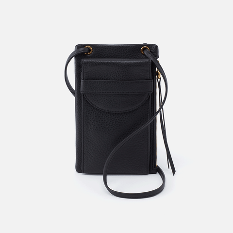Agile Black Leather Crossbody