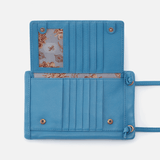 Agile Dusty Blue Leather Crossbody