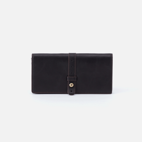 Alta Black Leather Large Wallet