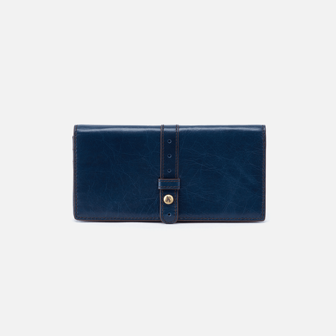 Alta Blue Leather Large Wallet