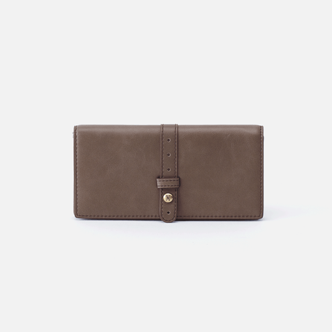 Alta Grey Leather Large Wallet
