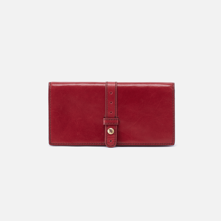 Alta Red Leather Large Wallet