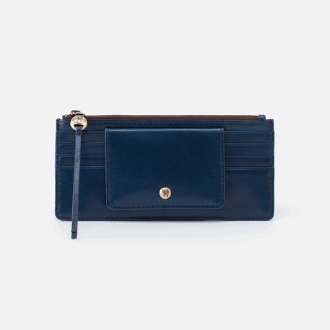 Amaze Blue Leather Large Wallet