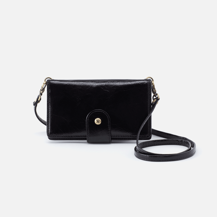 Apollo Black Leather Phone Crossbody