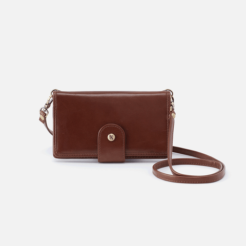 Apollo Brown Leather Phone Crossbody
