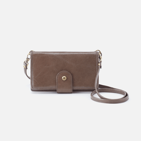 Apollo Grey Leather Phone Crossbody