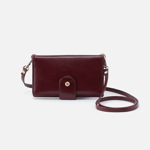 Apollo Purple Leather Phone Crossbody
