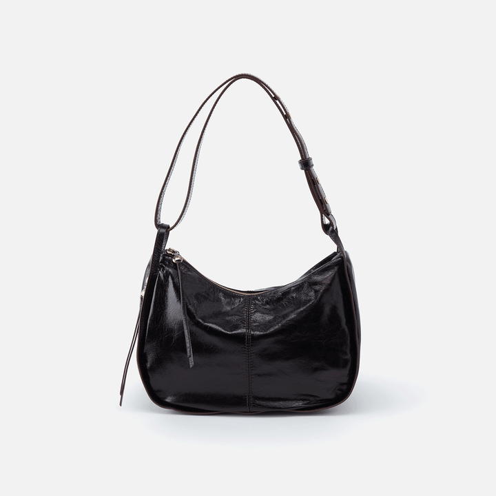 Arlet Black Leather Shoulder Bag