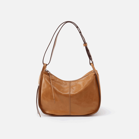 Arlet Cognac Brown Leather Shoulder Bag